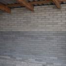 Стена из лего кирпича
