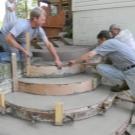 Залитое крыльцо бетоном