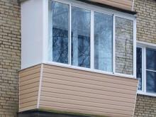 Остекление балкона с выносом (32 фото): как остеклить выносн.