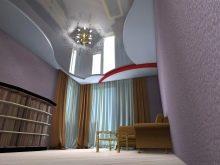 потолок металлического цвета