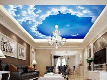 потолок с солнцем и облаками
