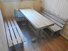 Деревянная мебель для бани. Выбираем мебель для бани: виды и дизайн
