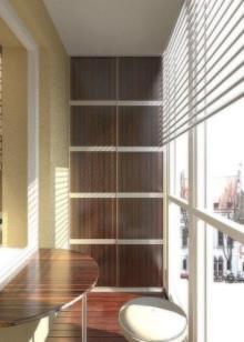 Встроенный шкаф на балкон (43 фото): встраиваемые модели для.