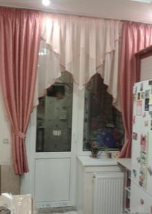 Идеи штор для кухни с балконной дверью фото