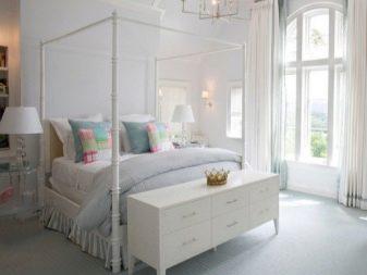 Белый комод в спальню: глянцевые и комбинированные комоды, длинный коричневый комод-стол