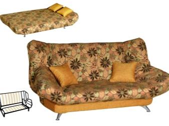 Клик-кляк (80 фото): что за механизм трансформации у дивана, размеры, как раскладывается, маленький в интерьере, отзывы