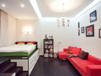 Дизайн гостиной-спальни 14, 15 кв