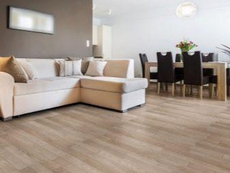 Серый ламинат - светло серый ламинат в интерьере квартиры, какие обои и плитку подобрать к серому полу.