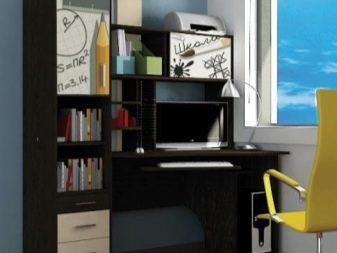 Стол компьютерный угловой с надстройкой (32 фото): дополненн.
