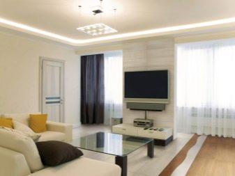 комната с двумя окнами на разных стенах дизайн 2