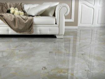 Напольная плитка под мрамор (37 фото): выбор глянцевых белых и черных изделий из Испании на пол, красивые варианты в интерьере