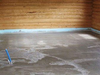 Конструкция пола в деревянном доме