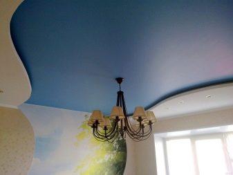 варианты сатинового потолка