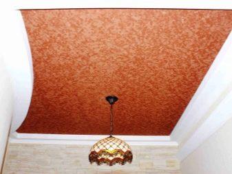 оранжевый фактурный потолок