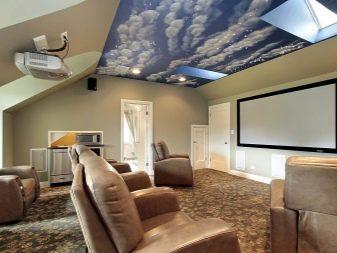 потолок с облаками