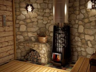 Установка железной печи в деревянной бане