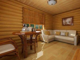 Дизайн комнаты отдыха в бане  50 фото примеров интерьера