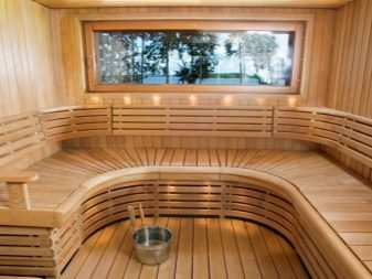 Современная баня внутри