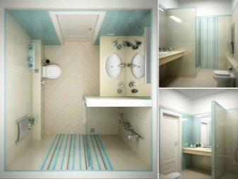 дизайн ванной с душевой кабиной 7