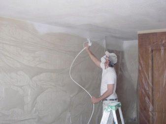 Покраска стен известкой