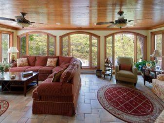 Веранда на даче: летний дачный дом с пристройкой размером 4х6, оформление веранды в садовом домике террасной плиткой и другие варианты дизайна
