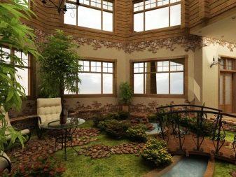 Зимний сад в доме - 110 фото как сделать красивый сад своими руками
