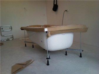 Установка акриловой ванны: как установить своими руками, как устанавливать конструкцию на каркасе, как правильно проводить монтаж