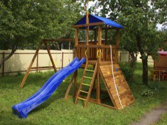 Детские площадки для дачи (77 фото): выбор игровых и спортивных элементов, дачные металлические конструкции для детей