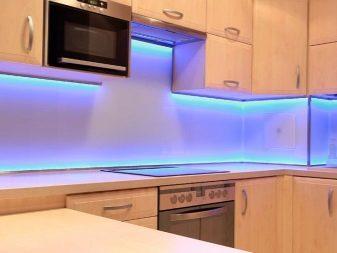 Как сделать светодиодную подсветку кухонного гарнитура своими руками