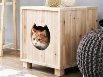 Домик для кошки своими руками из досок фото 529