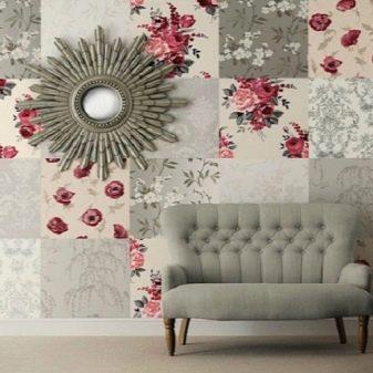 Панно из обоев на стену (39 фото): в интерьере гостиной, как сделать из виниловых обоев