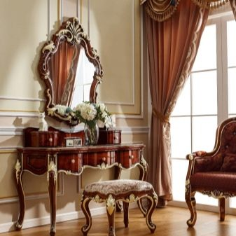туалетный столик 85 фото будуарный стол с зеркалом для макияжа и