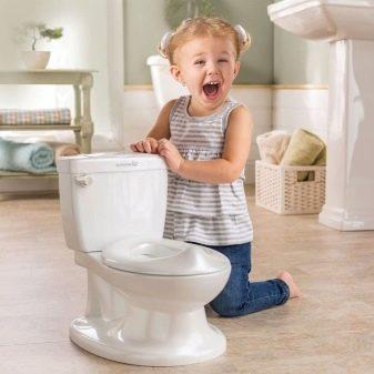 Детский унитаз: компакт конструкция для детей Rosa, дешевая сантехника, устройство - Малыш - из оскольской керамики и - Лягушка, ГОСТ приставного изделия