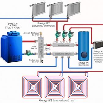 Гидрострелка для отопления 3 случая установки