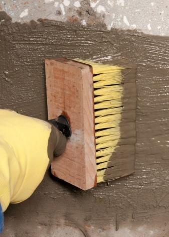 Цементный раствор гидроизоляция монолитная стена своими руками из керамзитобетона