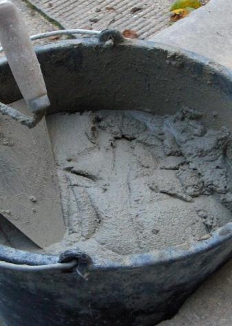 как разводится цемент с песком