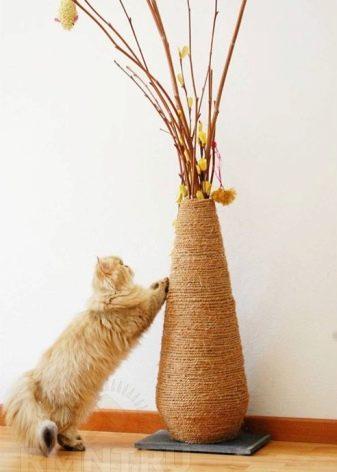 Как я сделал когтеточку для кошек своими руками