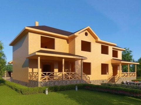 Изображение - Дом с разными входами раздел для двоих хозяев dom-na-dve-semi-s-dvumya-otdelnymi-vhodami-primery-proektov-56