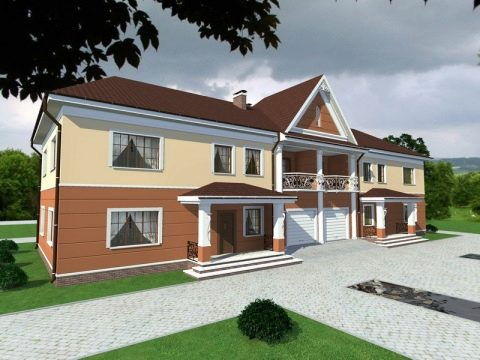 Изображение - Дом с разными входами раздел для двоих хозяев dom-na-dve-semi-s-dvumya-otdelnymi-vhodami-primery-proektov-7