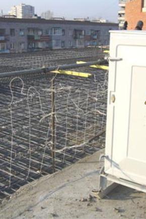 Прогрева бетона электродами заливка стен из керамзитобетона