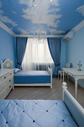 голубые обои в спальне 29 фото дизайн интерьера в голубых тонах