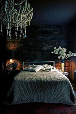 Спальни в темных тонах