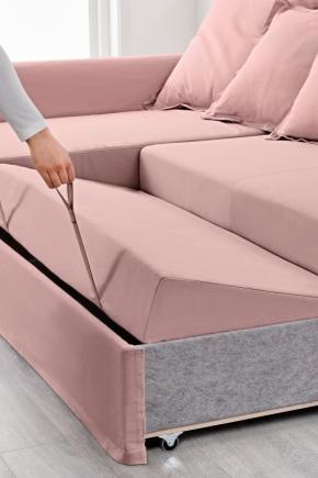 Выкатной диван с ящиком для белья