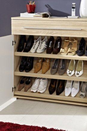 Тумбочка для обуви в прихожую своими руками 834