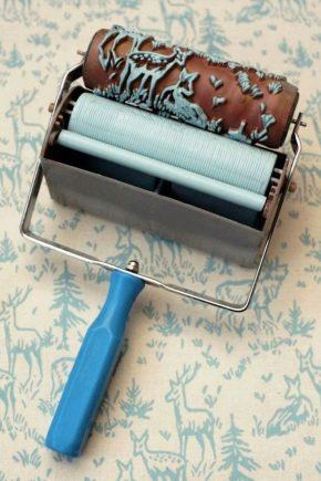 160 Текстурный валик для покраски стен