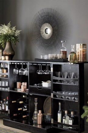 Тумба-бар для гостиной: преимущества и недостатки