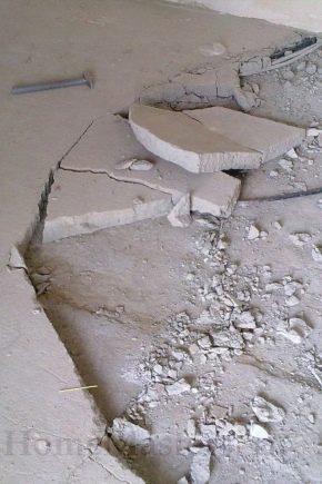 Тонкости ремонта стяжки пола