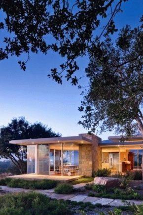 Красивые проекты одноэтажных домов с плоской крышей