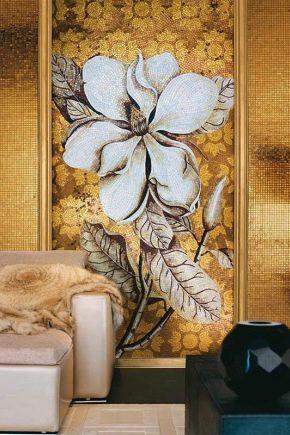 Стеклянная мозаика в дизайне интерьера
