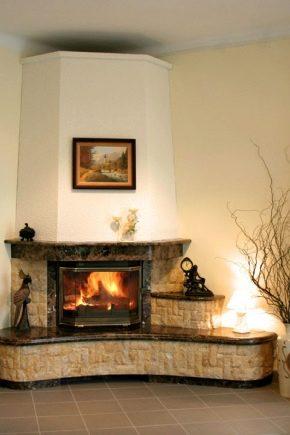 Угловой камины в интерьере гостиной фото своими руками из гипсокартона